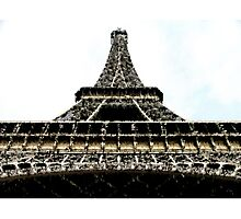 The tower of Paris Photographic Print