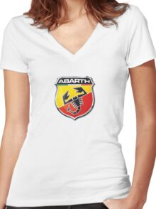 Abarth Women's Fitted V-Neck T-Shirt
