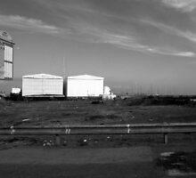 Ostia seafront: sheds by Giuseppe Cocco