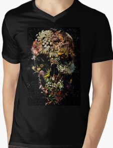 Smyrna Skull Mens V-Neck T-Shirt