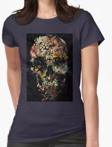 Smyrna Skull Womens Fitted T-Shirt