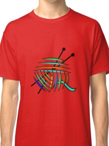 Knitting Needles and Colorful Yarn Classic T-Shirt