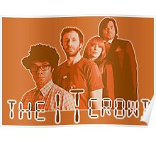 The IT Crowd - ORANGE CRT Glow  Poster