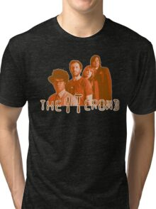 The IT Crowd - ORANGE CRT Glow  Tri-blend T-Shirt