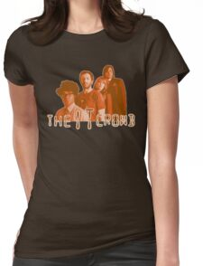 The IT Crowd - ORANGE CRT Glow  Womens Fitted T-Shirt