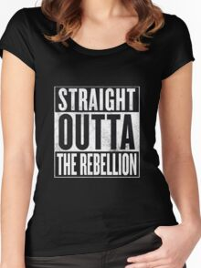 Straight Outta The Rebellion Women's Fitted Scoop T-Shirt