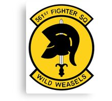 "561st Fighter Squadron ""Wild Weasels"" Canvas Print"