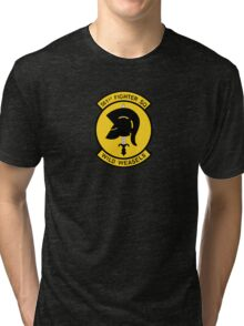 """561st Fighter Squadron """"Wild Weasels"""" Tri-blend T-Shirt"""