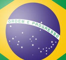 Brazilian Heart Flag Sticker