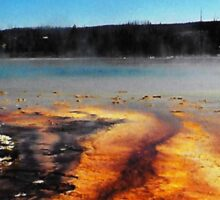 Grand Prismatic Geyser Pool Sticker