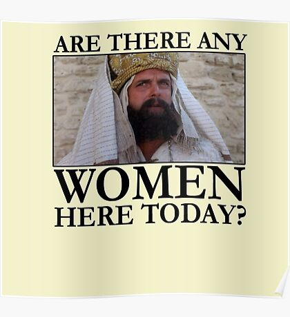 Are there any women here today? Poster