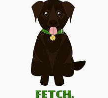 """Fetch"" Chocolate Labrador Retriever Dog Unisex T-Shirt"