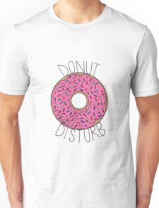 Donut Disturb - White Unisex T-Shirt