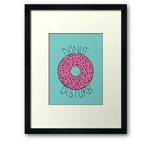 Donut Disturb Framed Print