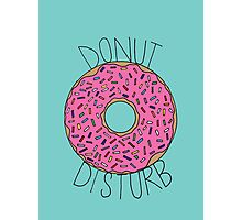 Donut Disturb Photographic Print