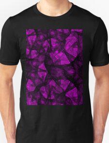 Fractal art black and pink Unisex T-Shirt