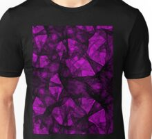 Fractal art black and pink Unisex T-Shirt
