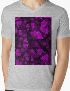 Fractal art black and pink Mens V-Neck T-Shirt