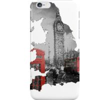 London black and white design - UK map iPhone Case/Skin