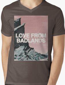 Halsey Badlands Landscape Mens V-Neck T-Shirt