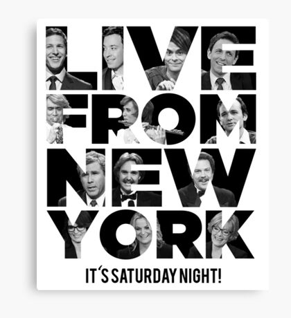 Live From New York, It's Saturday Night - Saturday Night Live Canvas Print
