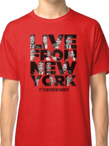 Live From New York, It's Saturday Night - Saturday Night Live Classic T-Shirt