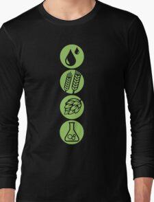 BEER: Water, Barley, Hops & Yeast Long Sleeve T-Shirt