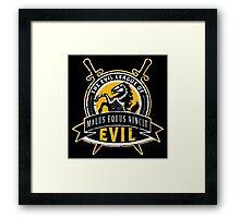 Evil League of Evil Framed Print