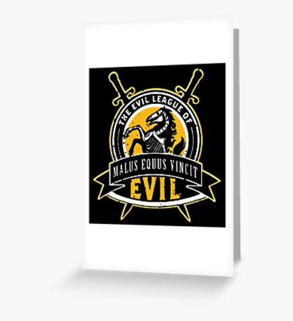 Evil League of Evil Greeting Card