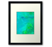 Resonance Aqua Blue Framed Print