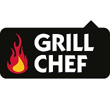 I am the Grill Chef! Photographic Print