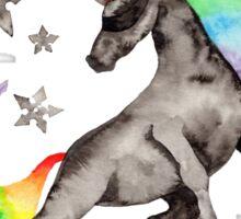 Ninja Rainbow Unicorn Sticker