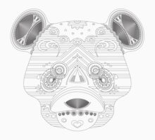 coloring book bear One Piece - Long Sleeve