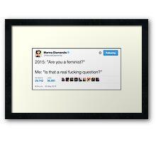 Feminist  Framed Print