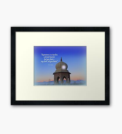 EXPERIENCE Framed Print