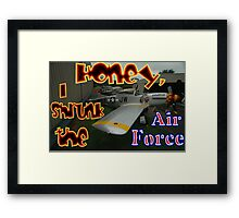 Honey, I Shrunk The Air Force, Tyabb 2012 Framed Print