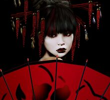 Red Umbrella Geisha by Shanina Conway