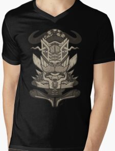 Buffalo Warrior Totem Mens V-Neck T-Shirt