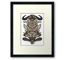 Buffalo Warrior Totem Framed Print