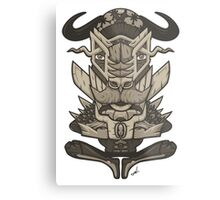 Buffalo Warrior Totem Metal Print