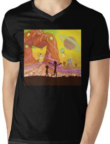 Rick and Morty Mens V-Neck T-Shirt