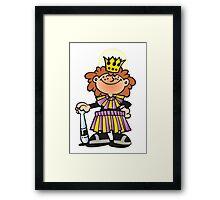 Mardi Gras Queen New Orleans NOLA Framed Print