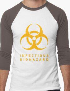 Infectious Biohazard  Men's Baseball ¾ T-Shirt