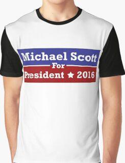 Michael Scott for President Graphic T-Shirt