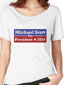 Michael Scott for President Women's Relaxed Fit T-Shirt