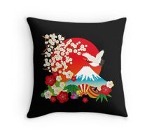 Japanese kimono 1 Throw Pillow