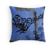 Leafy Bird Throw Pillow