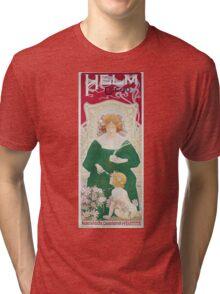 Vintage Art Nouveau Advertisement for Helm Cacao Tri-blend T-Shirt