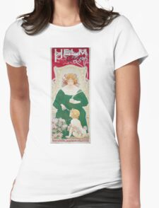 Vintage Art Nouveau Advertisement for Helm Cacao Womens Fitted T-Shirt