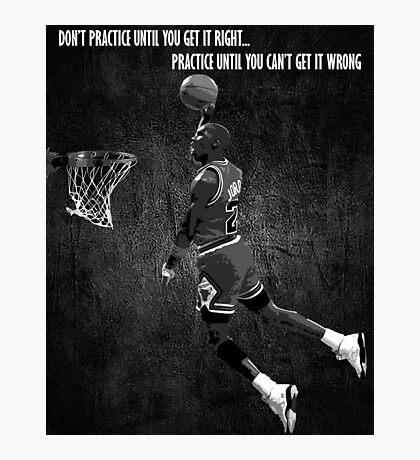 Michael Jordan Motivational Photographic Print